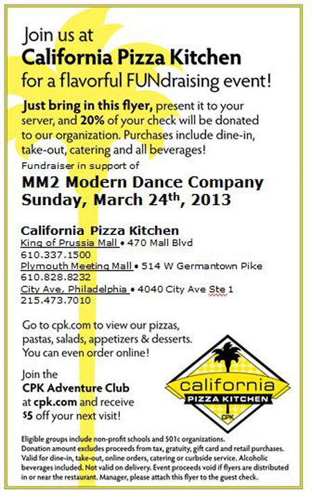 Awe Inspiring Mm2 Fundraiser At California Pizza Kitchen On March 24Th Download Free Architecture Designs Rallybritishbridgeorg